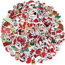 50 шт рождественские наклейки праздничное украшение Санта Клаус