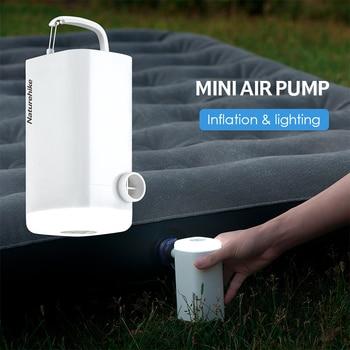 Naturehike Air Pump 3 In 1 Multifunctional LED Light Lamp USB Charging Pumps For Outdoor Mattress Travel Pillow Sleeping Pad