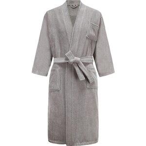 Image 3 - Star Hotel peignoir de bain 100% coton pour hommes et femmes, peignoir chaud, grande taille, Kimono, vêtements de nuit en éponge pour hiver