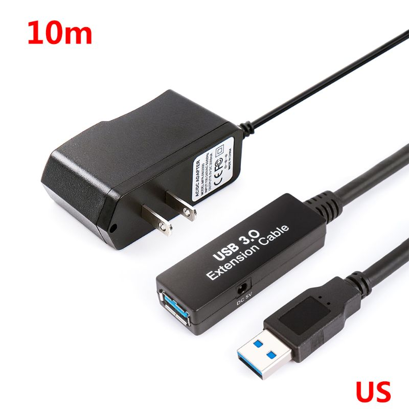 5m/10m/15m USB 3.0 Extension Cable Signal Amplification Data Line US/EU Plug Power Adapter For Windows XP/Vista/7/OS Systems