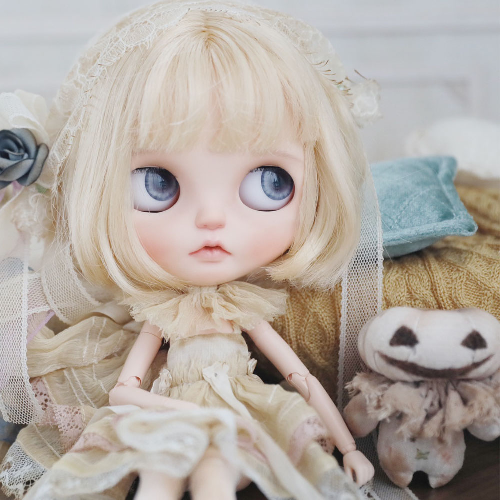 Blyth Doll NBL 1/6 BJD Customized Frosted Face,big Eyes Fashion Girl Makeup Ball Jointed Doll Have Sleep Eyes