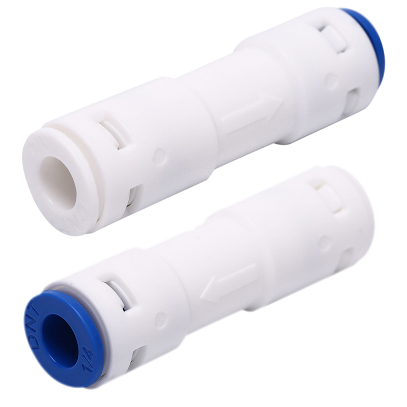 1pc Check Valve Push In For Non Return Water Reverse Osmosis System Filters 1/4