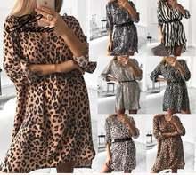 Xnxee женское весеннее сексуальное леопардовое платье в полоску