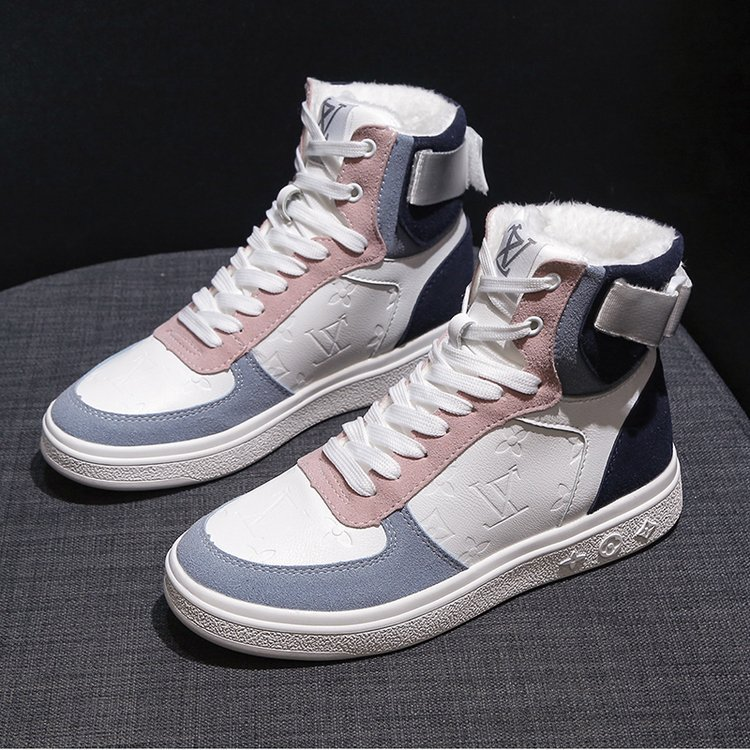 High top sneakers for women street  hip hop leather sports shoes 2