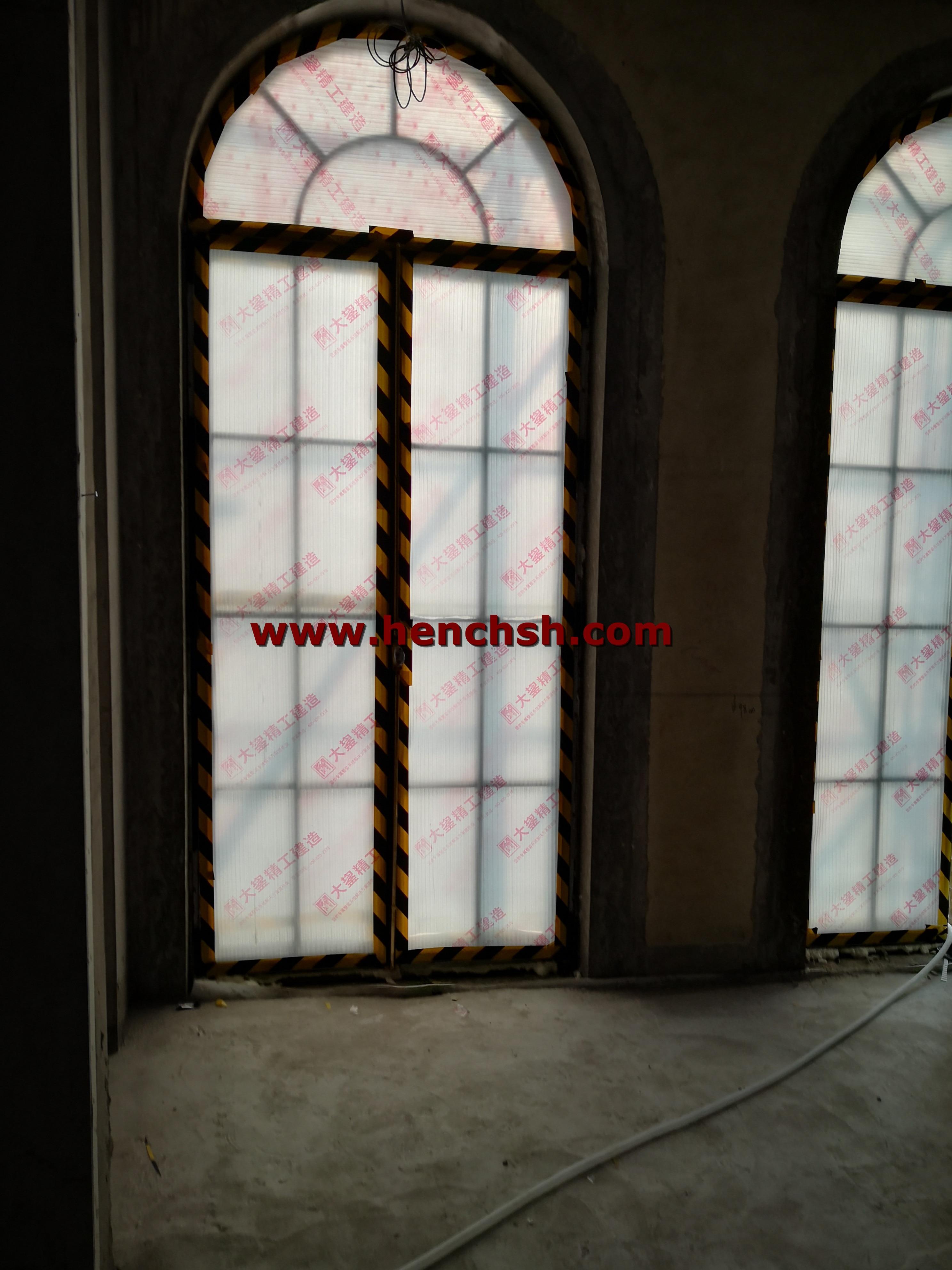 Powder Coated Double Glazed Iron French Entry Door&Windows