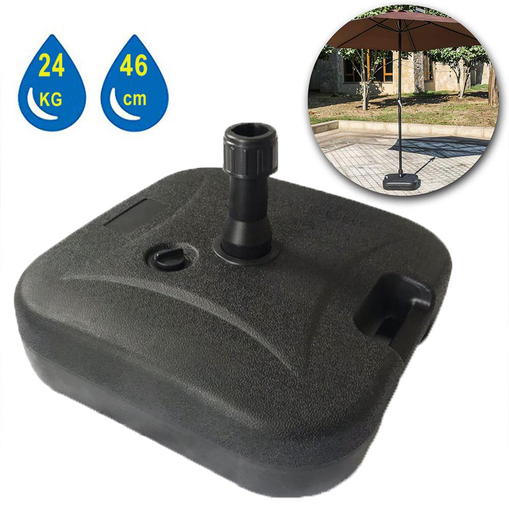 HooRu Umbrella Base 64CM Square Outdoor Water Filled Stand Patio Market Garden Base 38MM Umbrella Hole - Small Size