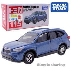 Takara Tomy Tomica Subaru Forester No.115 Kit Modelo 1/65 Fundido Carro de Brinquedo Em Miniatura Hot Pop Crianças Bugiganga Engraçado Magia Fantoche molde