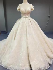 Image 1 - Robe de mariée luxueuse, à paillettes, robe de mariée princesse ligne A, taille/couleur, modèle 2020