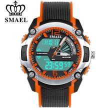 SMAEL – montre-bracelet de Sport pour enfants, étanche, analogique, numérique, pour écoliers, multifonction, horloge, pour filles et garçons, tendance LED