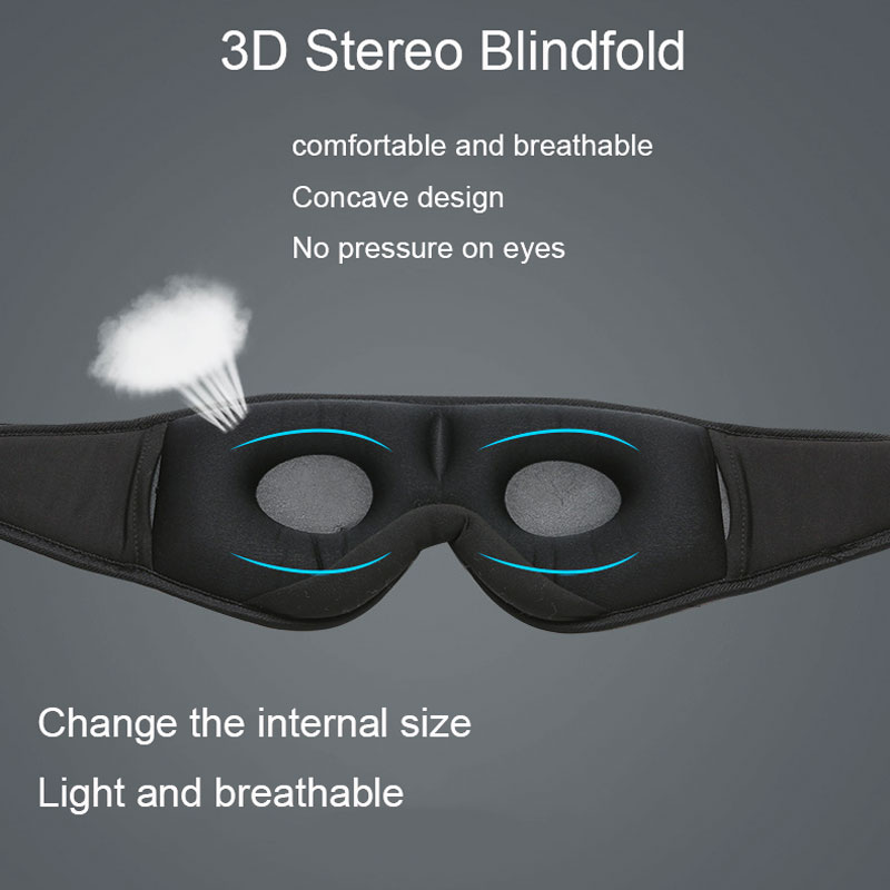 lowest price 2020 manufacturers new wireless Bluetooth v5 0 headset call music sleep artifact breathable sleep eye mask headphone