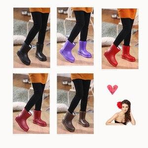 Image 3 - Bottes de neige femme 2019 hiver femmes bottine imperméable grande taille plat pluie chaussons garder au chaud dames chaussures coton Botas mujer