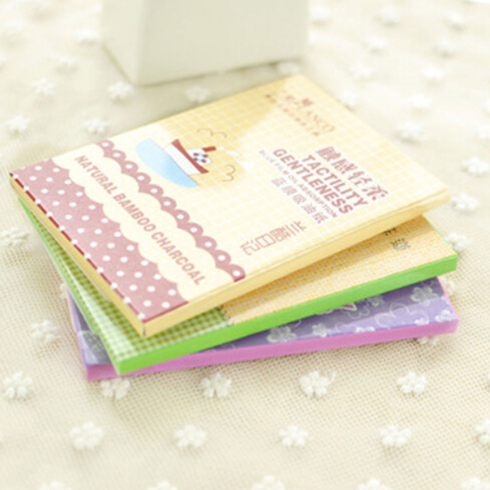 1 Pack Cute Facial Oil Control Absorption Film Tissue Paper Pulp Makeup Blotting Paper Random