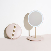 Led-Mirror Makeup-Tool Light Compact Folding Travel Constant Portable with Long-Time-Use