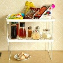 1PC Multi-Purpose Kitchen Storage Rack Plastic Folding Shelf Organier For Bathroom Practical Tool