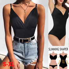 Women Bodysuit Shapewear V Neck Bodysuit Full body Shaper Sealess Firm Tummy Control Corset Slimming Underwear Waist Shaper