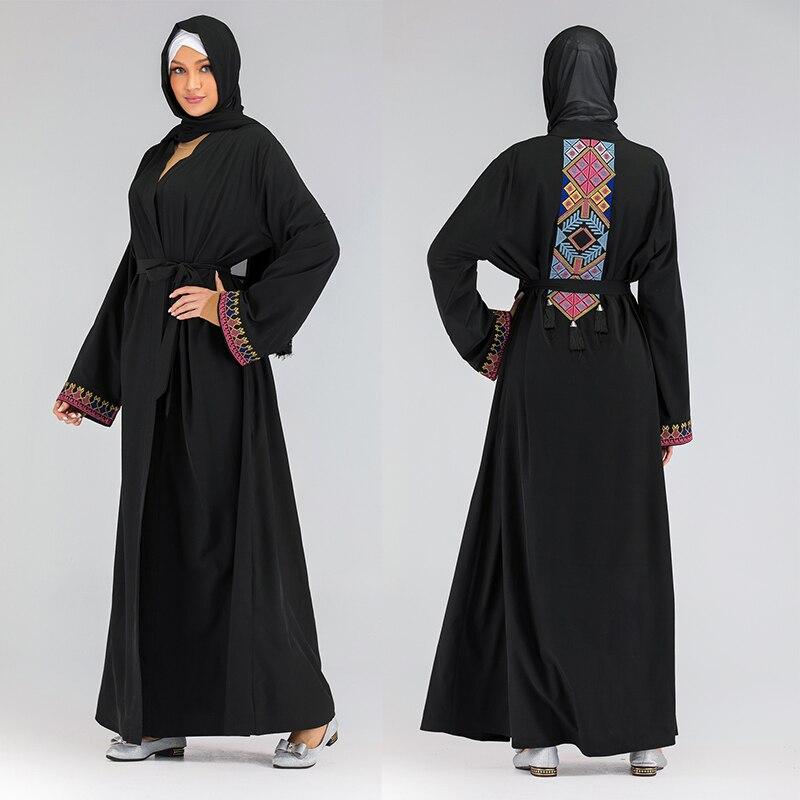 Black Cardigan Dubai Abaya Kimono Islam Hijab Muslim Dress Abayas For Women Kaftan Caftan Marocain Turkish Islamic Clothing Robe
