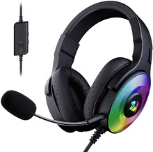 Redragon H350 Pandora Wired Gaming Headset Dynamische Rgb Backlight 50Mm Drivers Afneembare Microfoon Werkt Voor Pc/PS4/Xbox One/Ns