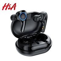 H&A TWS Ture Wireless Earphones Bluetooth with Mic Touch Control Wireless Headphones Headsets Noise Reduction IPX5 Waterproof