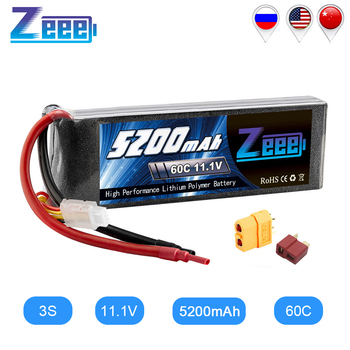 Zeee 11.1V RC Lipo Battery 5200mAh 3S Rechargeable RC Battery FPV 60C with Deans Plug XT60 for RC Car Truck Helicopter Quad Boat 1pcs lipo battery 11 1v 14 8v 1600mah 70c lipo battery 3s 4s for rc helicopter rc car boat quadcopter remote control toys