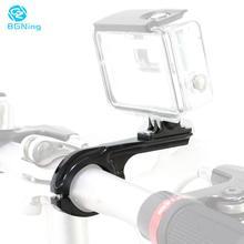 цена на Aluminum Bicycle Motorcycle Handlebar Bar Clamp Seatpost Mount Holder Adapter 31-31.8mm For Gopro 8 2 3 3+ 4 5 6 7 SJCAM Camera