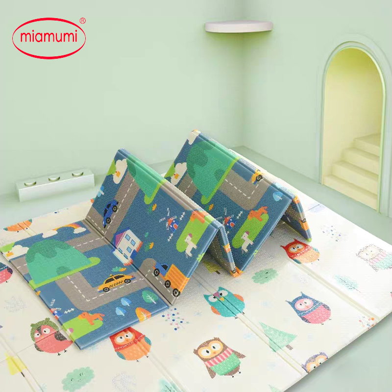 Miamumi Portable Baby Play Mat XPE Foam Double Sided Playmat Home Game Puzzle Blanket Folding Mat Miamumi Portable Baby Play Mat XPE Foam Double Sided Playmat Home Game Puzzle Blanket Folding Mat for Infants Kids' Carpet Rug