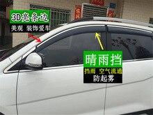 三菱 ASX 車防水装飾ストリップ太陽バイザー修正された窓雨眉毛の装飾