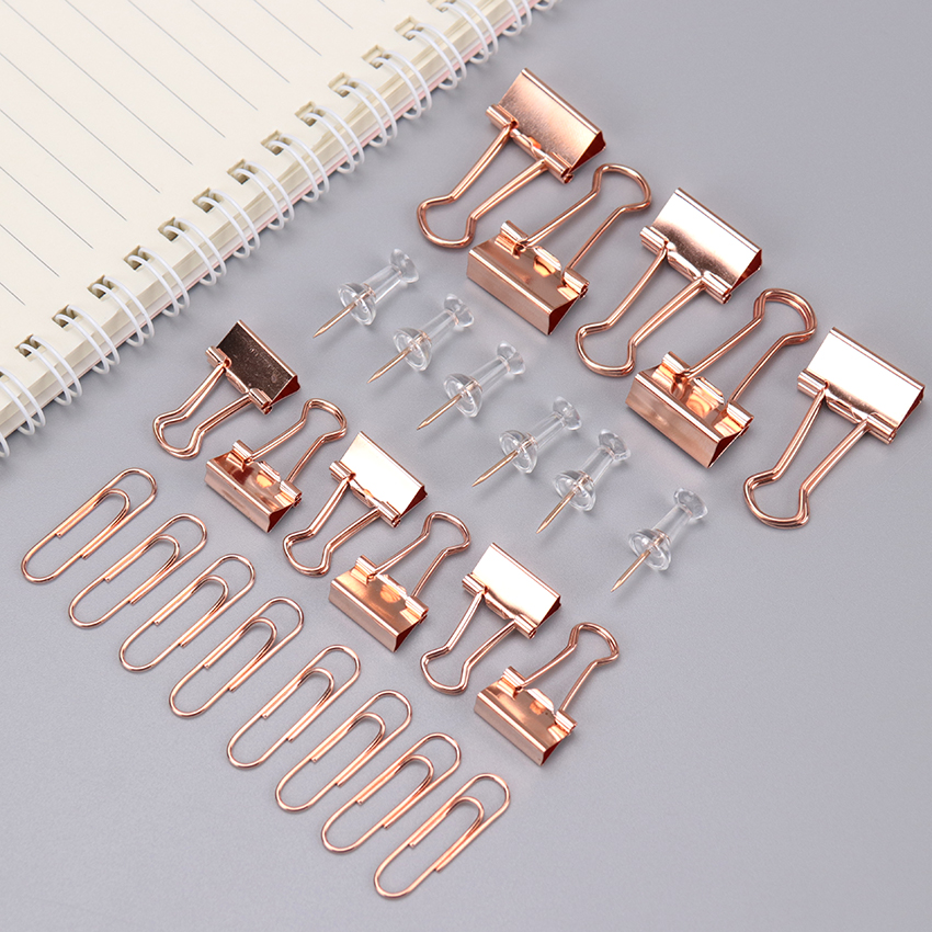 72PCS/Box Metal Paper Clips Long Tail Clip Gold Color Clips For Book Stationery School Office Supplies High Qualityl Paper