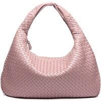 Fashion Designer Handbag Leather Sheepskin Shoulder Bag Woven Large Shopping Bag Handmade Tote Bolsos Mujer Ladies Hand Bags