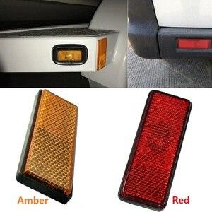Image 5 - 6x красных прямоугольных резьбовых отражателей, прицепов, автофургонов, грузовиков, автобусов, задний/Сигнальный отражающий эффект, плюс 87*32*10 мм