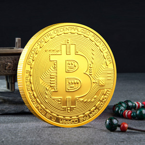 Funny Creative Souvenir Gold Plated Bitcoin Coin Collectible Great Gift Bit Coin Art Collection Physical Gold Commemorative Coin