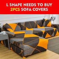 L Form Spandex Sofa Abdeckungen für Wohnzimmer Stretch Schnitts Ecke Sofa Couch Abdeckung Hussen, L Form bedürfnisse zu kaufen 2 stücke