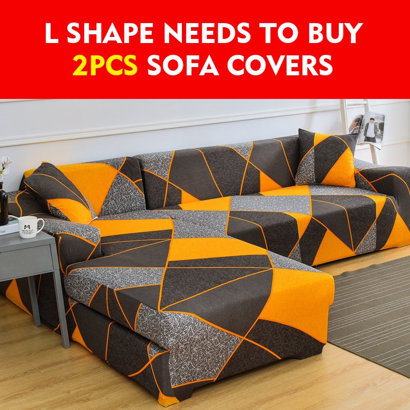 Spandex Sofa Cover For Living Room Elastic Stretch Sectional Corner Couch Cover Slipcovers 1/2/3/4-seat Sofa Covers