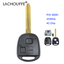 LACHOUFFE for Toyota Corolla RAV4 Yaris Replacement Remote Control Car Key Fob 433MHz 4C Chip P/N 60081