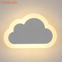 8W Moderne Led Wandlamp Woonkamer Kids Slaapkamer Decor Wolken Wandlampen Acryl & Iron Minimalistische Blaker Lamp ac 110V 220V 240V