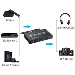 Image 4 - PROZOR 192kHz convertidor de Digital a analógico con Control remoto Bluetooth DAC Coaxial Digital Toslink a estéreo analógico L/R RCA