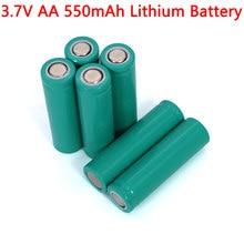 Baterias de lítio ternário inr14500 da bateria de lítio 3.7 v aa 550 mah para a arma de temperatura, controle remoto, mouse