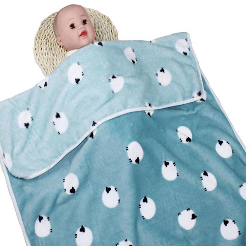 Одеяло для новорожденных, хлопковое зимнее детское Пеленальное Одеяло 73*100 см, мягкое зимнее одеяло для новорожденных - Цвет: Color 7