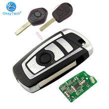 OkeyTech EWS Modified for BMW Remote Flip Folding Key 4 Buttons 315/433Mhz ID44 PCF7935AA for BMW E38 E39 X3 X5 Z3 Z4 HU92 Blade