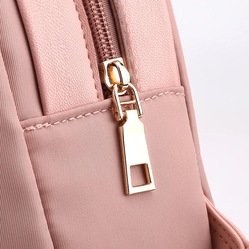 Women Cute Oxford School Backpack for Girls Daypack Waterproof Small Nylon Pink Backpack Women Schoolbags Travel Shoulder Bags in Backpacks from Luggage Bags