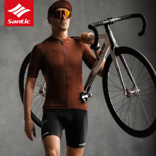 Bicycle Clothing Short-Sleeve Cycling-Jersey MTB Santic T-Shirts Anti-Wrinkle Jreseys