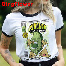 Grunge Avocado Aesthetic Funny T-shirt Women Graphic Kawaii Anime T Shirt Korean Style Streetwear Tshirt Cute Top Tees Female