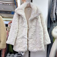 New Soft Fur Coat Women Korean Style Long Lamb for Winter Wear Womens Thicker High Imitation Rabbit Padded