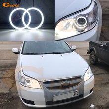Kit de bagues en halo pour Chevrolet Epica daewoo tosca Holden Epica 2007 – 2013, éclairage de jour Ultra lumineux, yeux d'ange, style de voiture