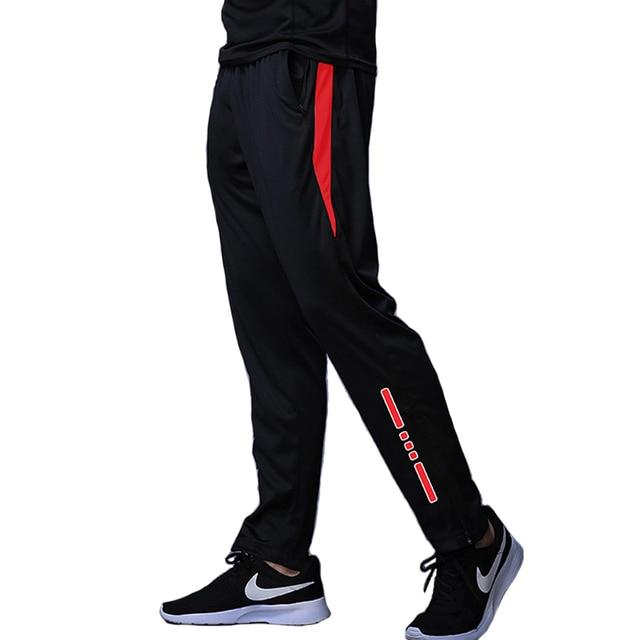 New Jogging Pants Men Breathable Sport Sweatpants Zip Pocket Training Pants Gym Workout Pants Athletic Soccer  Running Trousers 1