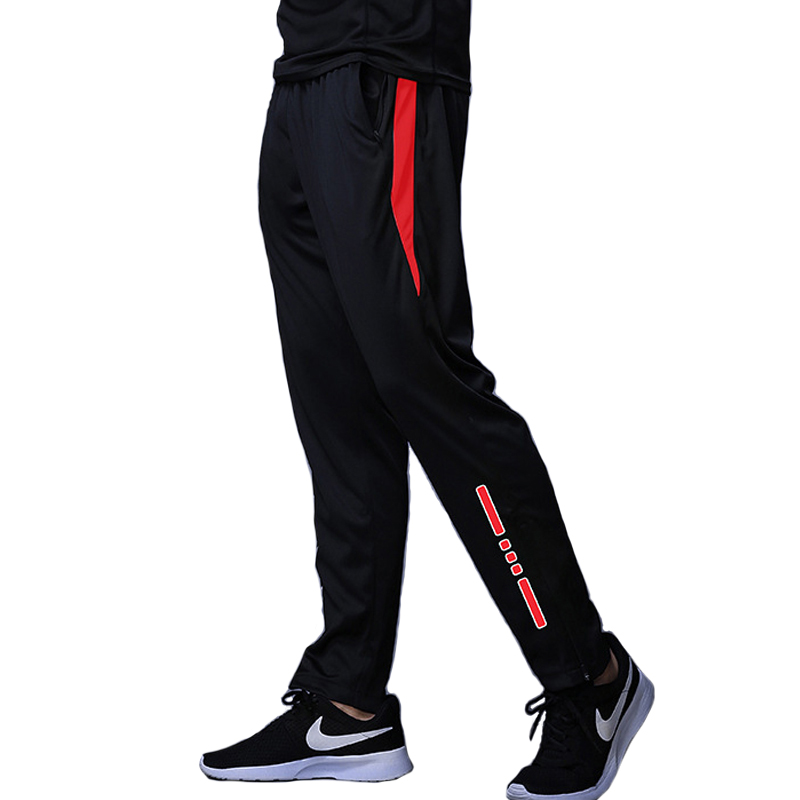New Jogging Pants Men Breathable Sport Sweatpants Zip Pocket Training Pants Gym Workout Pants Athletic Soccer  Running Trousers