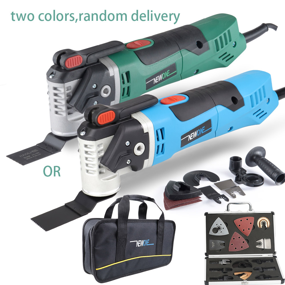 newone-sets-multi-function-electric-saw-oscillating-trimmer-home-renovator-tool-woodworking-tool-two-colors-random-delivery