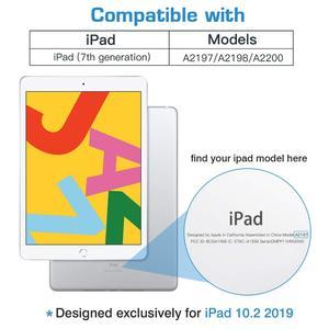 """Image 2 - Fall für iPad 10,2 2019 Neue Tablet,Generation 10.2 """", weiche TPU Zurück Schutzhülle Smart Fall mit Auto Wake/Sleep & Bleistift Halter"""
