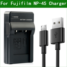 LANFULANG Batterie Chargeur NP 45 NP 45A NP 45B pour Fujifilm FinePix JV200 JV160 JV205 JV250 JV255 JX200 JX210 JX205 JX250