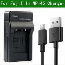 LANFULANG cargador de batería NP 45 NP 45A para Fujifilm FinePix JV200 JV160 JV205 JV250 JV255 JX200 JX210 JX205 JX250