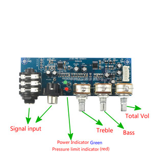 Image 2 - ميكروفون أحادي القناة ومقبس صوت ثنائي القناة ، ومضخم صوت ثنائي القناة ، وتعديل ثلاثي القوائم EQ Bass